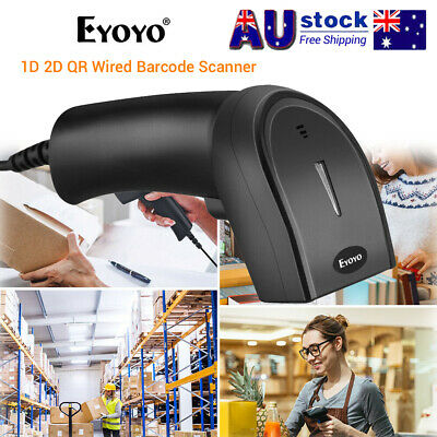 Eyoyo 1D 2D QR Wired Barcode Scanner Code Reader For IOS Android Mac POS Gun AU!