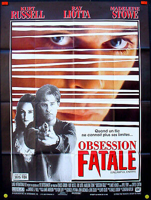 "UNLAWFUL ENTRY * KURT RUSSELL * RAY LIOTTA / ORIGINAL FRENCH POSTER 47x63"" NM"