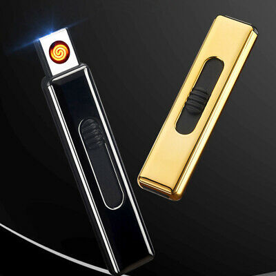 USB Double-sided Ignition Cigarette Lighter Portable Metal Rechargeable Lighters
