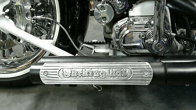 Motorcycle Exhaust heat shield F*** Hot Fit Triumph,harley,indian Chopper bobber