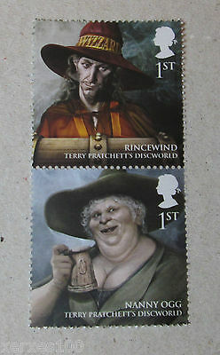 Royal Mail Issued Discworld stamps Nanny Ogg & Rincewind MNH 1st class NEW