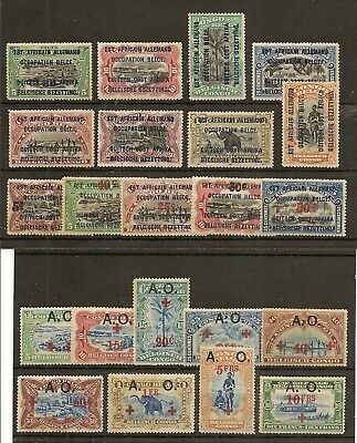 Ruanda-Urundi German Occupation 1916-22 Inc 1918 Red Cross To 5F (22)