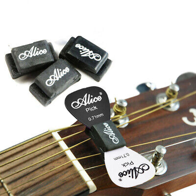 2pc Rubber Guitar Pick Holder With 2 Pcs Picks Plectrum Guitar Accessories Gift