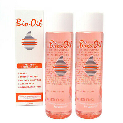 2Packs Bio-Oil Specialist Skincare Oil 200ml for Scars Stretch Marks Skin Care