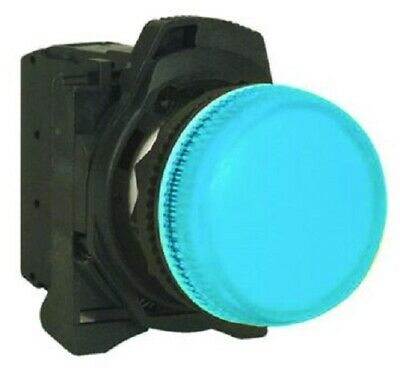 Sprecher+Schuh LED PILOT LIGHT 22.5mm Hole 240V AC Screw, Translucent Blue