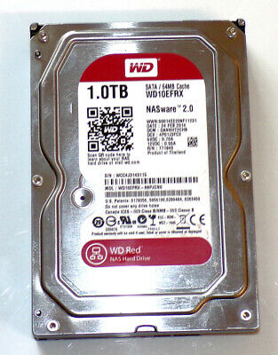 Western Digital Red WD10EFRX 1TB 5400RPM SATA-3 NAS 64MB Cache 3,5 Zoll TOP!!!