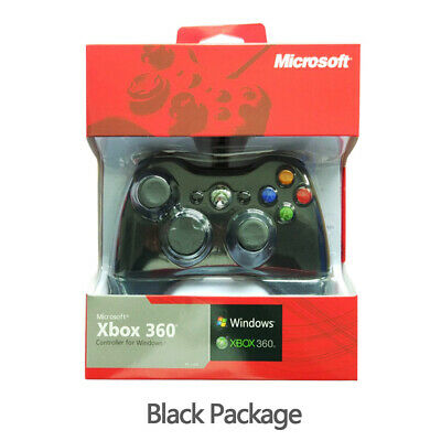 For Official Xbox 360 Wired Black Controller Game Pad L10 jy