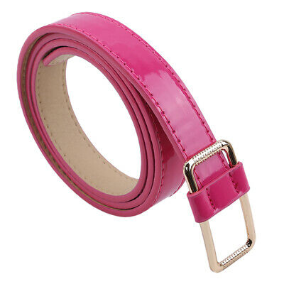 Candy Color Female Belt Thin Leather Waistband Buckle Apparel Accessories LH
