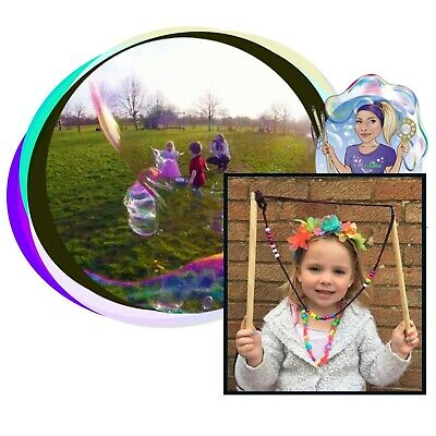 GIANT BUBBLE WAND MAKING SET GARDEN Outdoor Bubbles ACTIVITY GAME KIDS Family