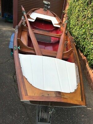 Vintage Wooden Boat - 3 metre Pram - exceptional condition - includes trailer