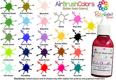 Air Brush Cake Decorating Edible Colors Paints | 20 ML | Black