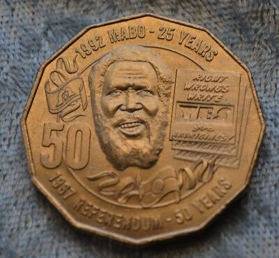 2017 AUSTRALIAN 50 CENT COIN - 25th anniversary of the Mabo decision
