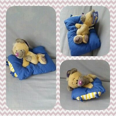 Peluche Doudou Diddl Ours Pimboli Berceuse musical Coussin mécanique 25cm NEUF