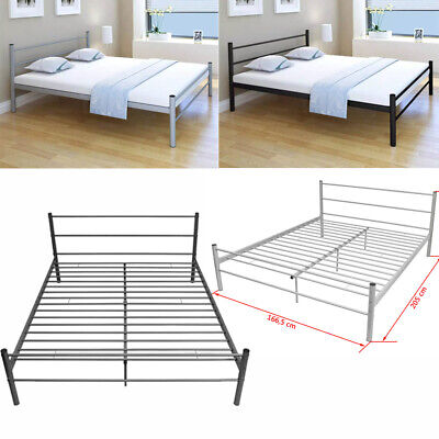 Strong Metal Bed Frame 5FT King Size Solid Bedstead Base Headboard high quality
