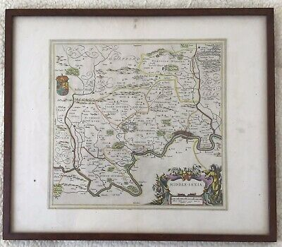 Johannes Blaeu - Antique Map - Middle-Sexia 1645 (1st Issue)