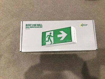 Ektor Wall mounted Emergency Exit Led 5001, Brand New