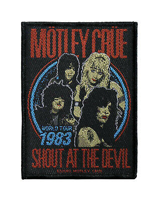 Motley Crue Woven Sew On Patch - Shout At The Devil Battle Jacket Patch #80