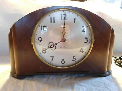 art deco Seth Thomas mantle clock antique 8 chime working electric mantel old