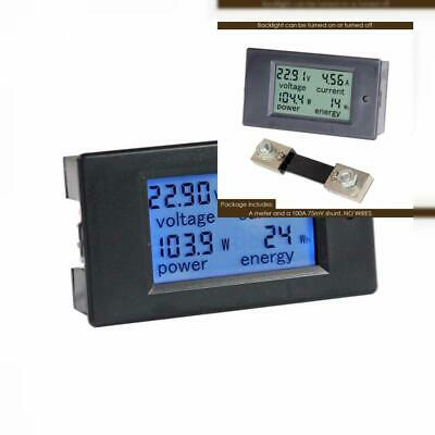 LCD Display Digital Current Voltage Power Energy DC 6.5-100V 0-100A