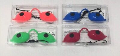 Super Sunnies Neon Tanning Bed Goggles Eye Protection UV Glasses - Set Of 4