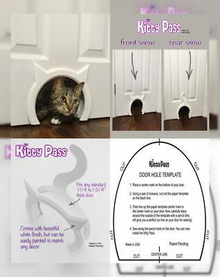 The Kitty Pass Interior Cat Door Hidden Litter Box Pet for cats up to 21 lbs
