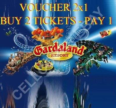 VOUCHER 2x1 @ GARDALAND - BUY 2 TICKETS AND PAY ONLY 1 TICKET - EXIPRE 31.12.19