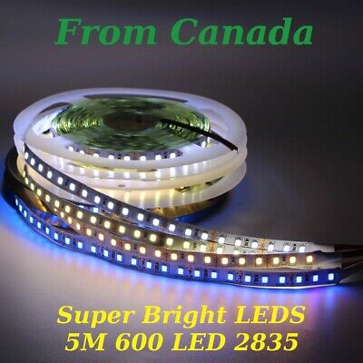 5m 600 LED strip light CRI>90 2835 string flexible 120/M string tape lamp white