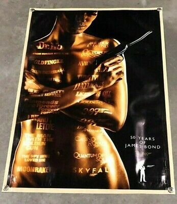 James Bond movie canvas thick vinyl banner anniversary figure poster film sign