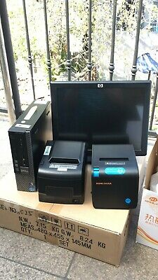 """15"""" Touchscreen All In One POS System Restaurant Point Of Sale 2 Printers"""