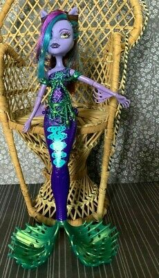 Monster High Great Scarrier Reef Clawdeen Wolf Doll Top & Accessory Lot
