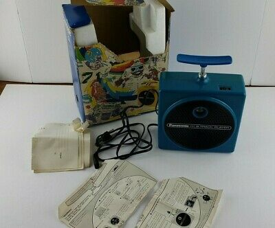 Panasonic Blue Dynamite Plunger 8 Track Tape Player Chord, Box & tape Works