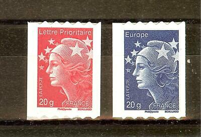 Timbre France Autoadhesif 2011 N° 599 Et 600  Neuf **