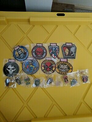 Funko Marvel POP Collector Corps Patches and Pins lot of 16