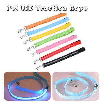 Useful Pet LED Traction Rope Luminous Collar Dog Lead Leash Chest Strap