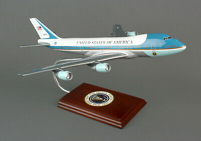 "Airplane USAF Air Force One VC-25 Boeing 747-200 Wood 19"" Model Aircraft"