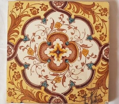 Gorgeous Floral Antique 6 Inch Tile