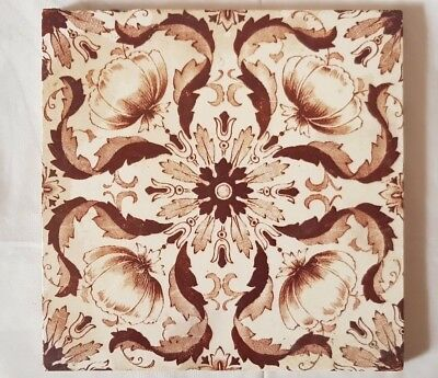Elegant Symmetrical Design Floral Antique 6 Inch Tile