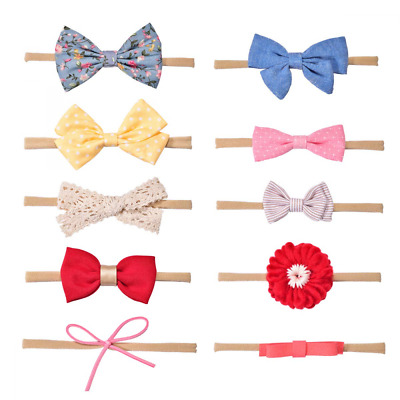 Baby Girl Headbands and Bows, Hair Accessories for Newborn Infant Toddler 10 Pac