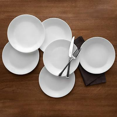 White Winter Frost Lunch Corelle Plates 6-Pack Piece Dinnerware Vitrelle glass