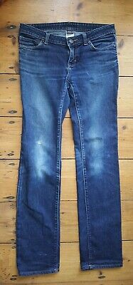 PATAGONIA Women's Straight leg Dark Blue stretch Jeans. Organic Cotton. W27 L33.
