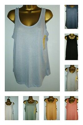 PRIMARK LADIES SLOUCH LOOSE FIT VESTS VARIOUS COLOURS SIZES 8-18 BNWT FREEPOST