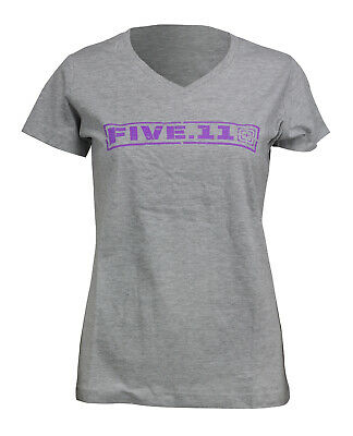 5.11 Tactical WM Drill MSTR Short Sleeve Logo T-Shirt Heather Grey Grau Damen
