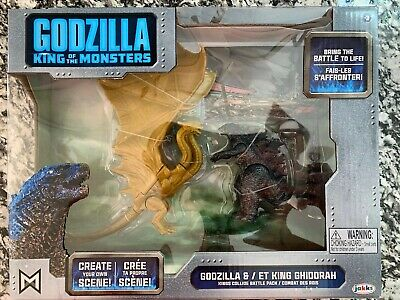 GODZILLA KING OF THE MONSTERS & KING GHIDORAH Toy Figure Set 2019 Jakks Kids NEW
