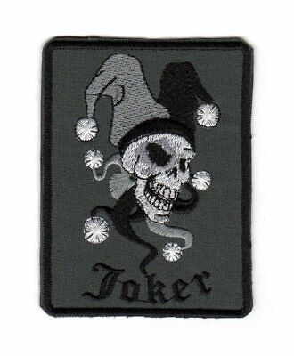 Tactical Military Army Biker Motorcycle Morale Patch Joker Jester Skull