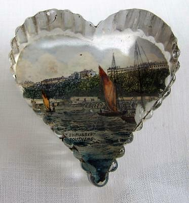 Antique Souvenir Paperweight Victorian Glass The Shubbery Southend Essex