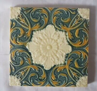 Minton Symmetrical Design English Aesthetic Majolica Victorian Tile