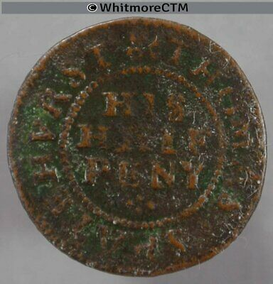 17th Century Token Sussex Chichester 62 ½d 1667 Thomas Spatehurst His Half Peny