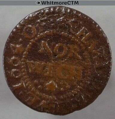 17th Century Token Norwich 189 Charles Reeve 1664 Both sides similar