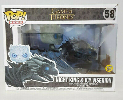 Funko Pop! Game of Thrones Night King on Icy Viserion #58 NEW in stock! GITD
