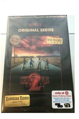 NEW Stranger Things Season 2 [Blu-ray + DVD] Target EXCLUSIVE VHS Pkg SEALED
